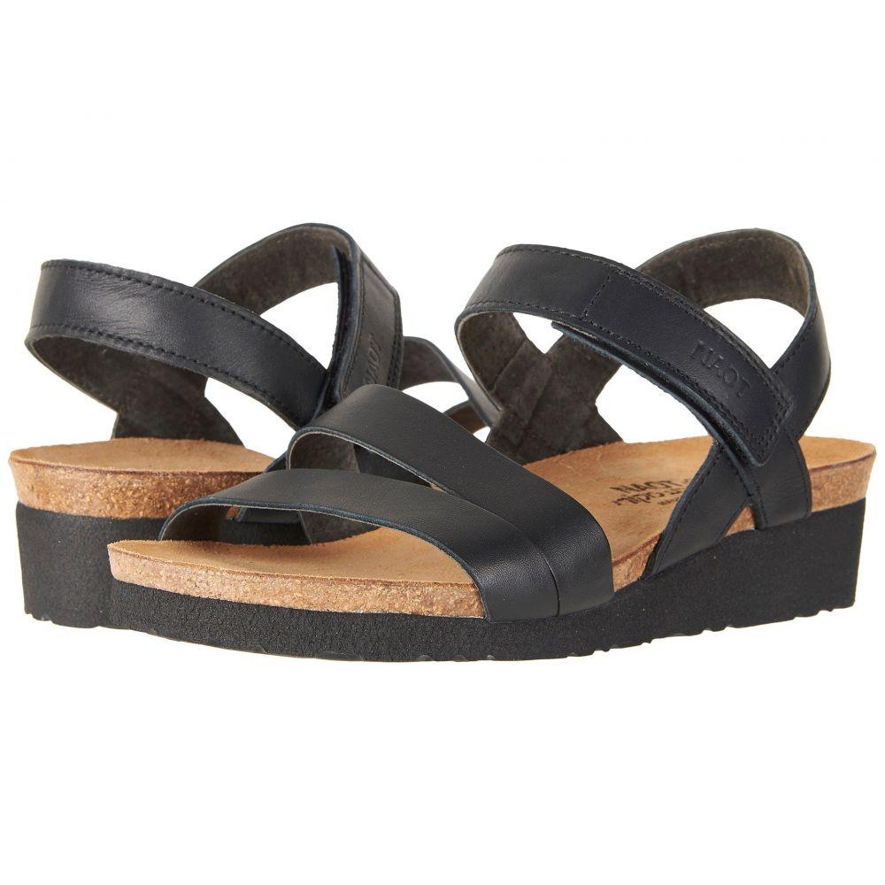 ナオト Naot レディース サンダル・ミュール シューズ・靴【Kayla - Wide】Black Matte Leather