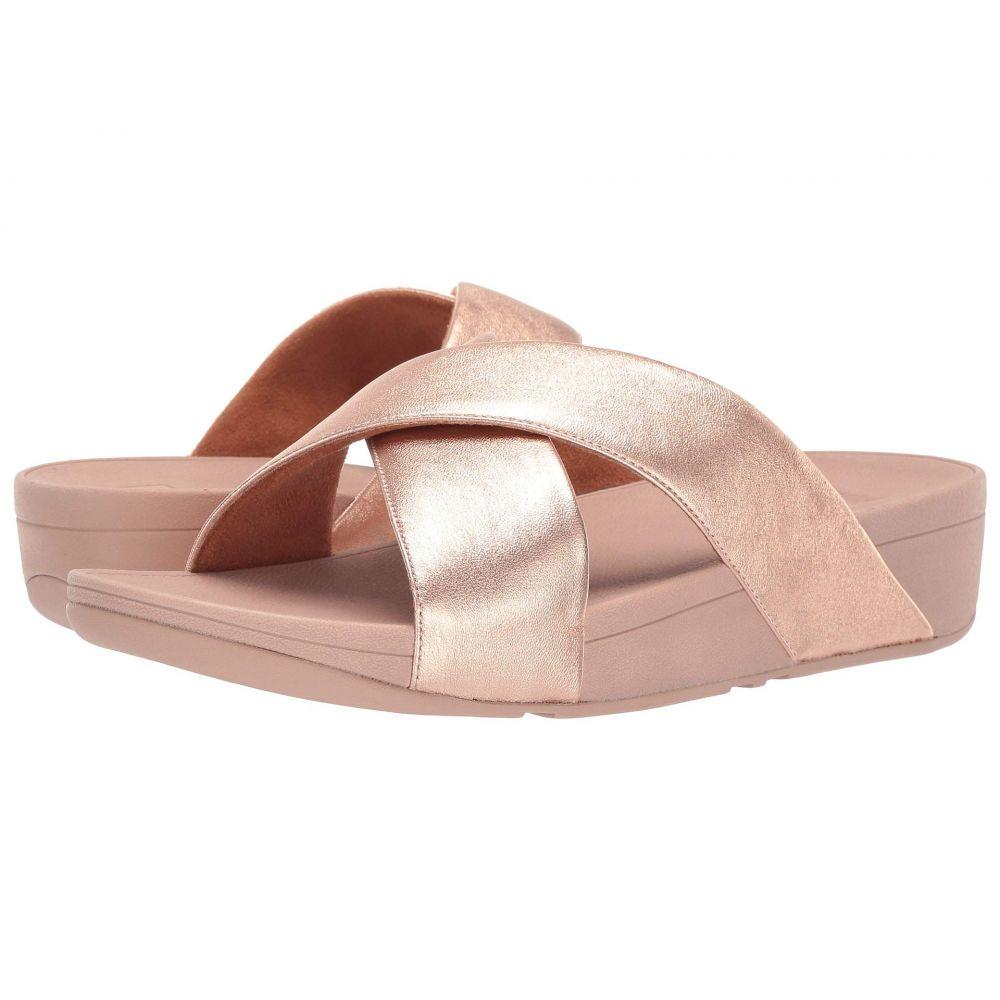 フィットフロップ FitFlop レディース サンダル・ミュール スライドサンダル シューズ・靴【Lulu Cross Slide Leather Sandal】Rose Gold