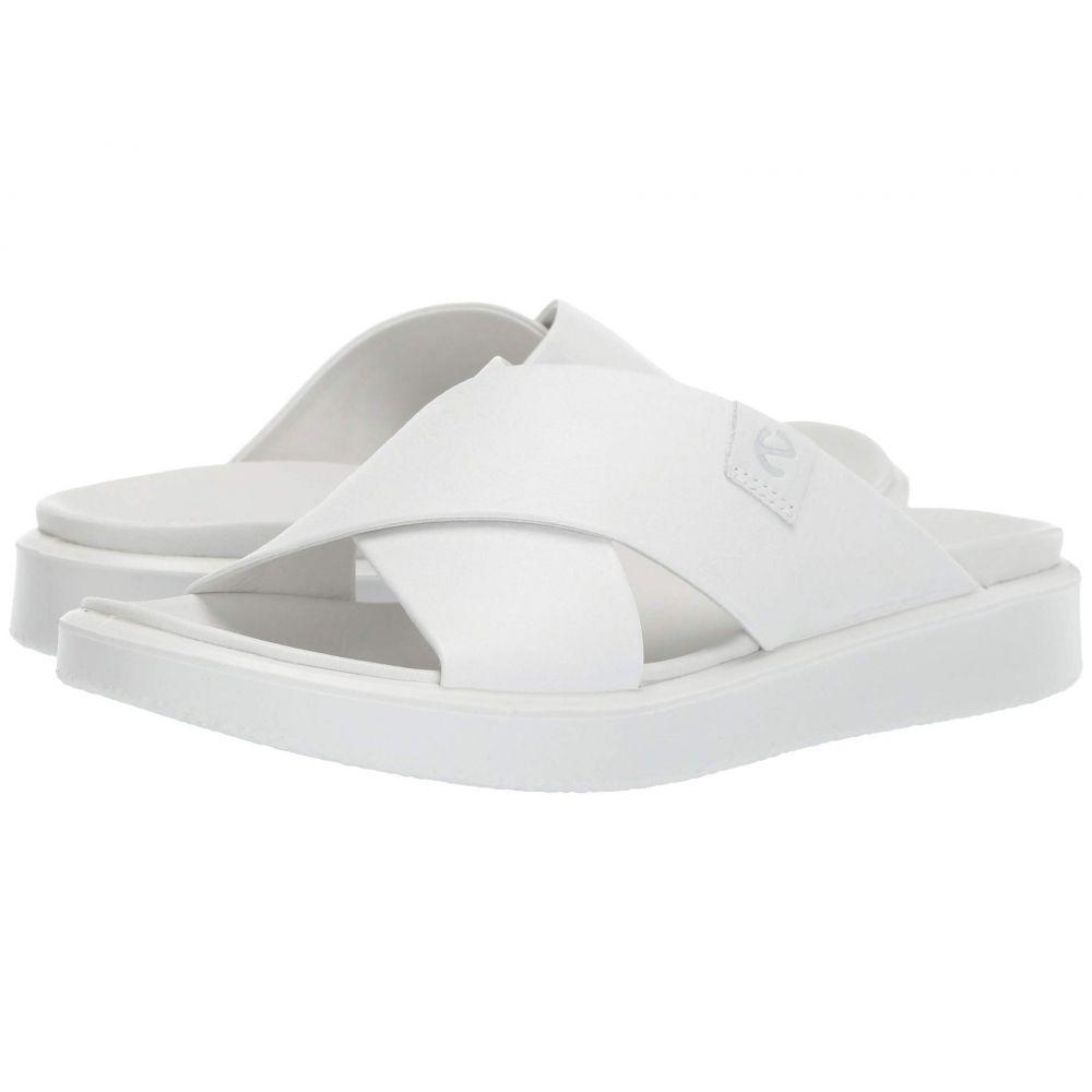 エコー ECCO レディース サンダル・ミュール シューズ・靴【Flowt LVX Slide】White Cow Leather