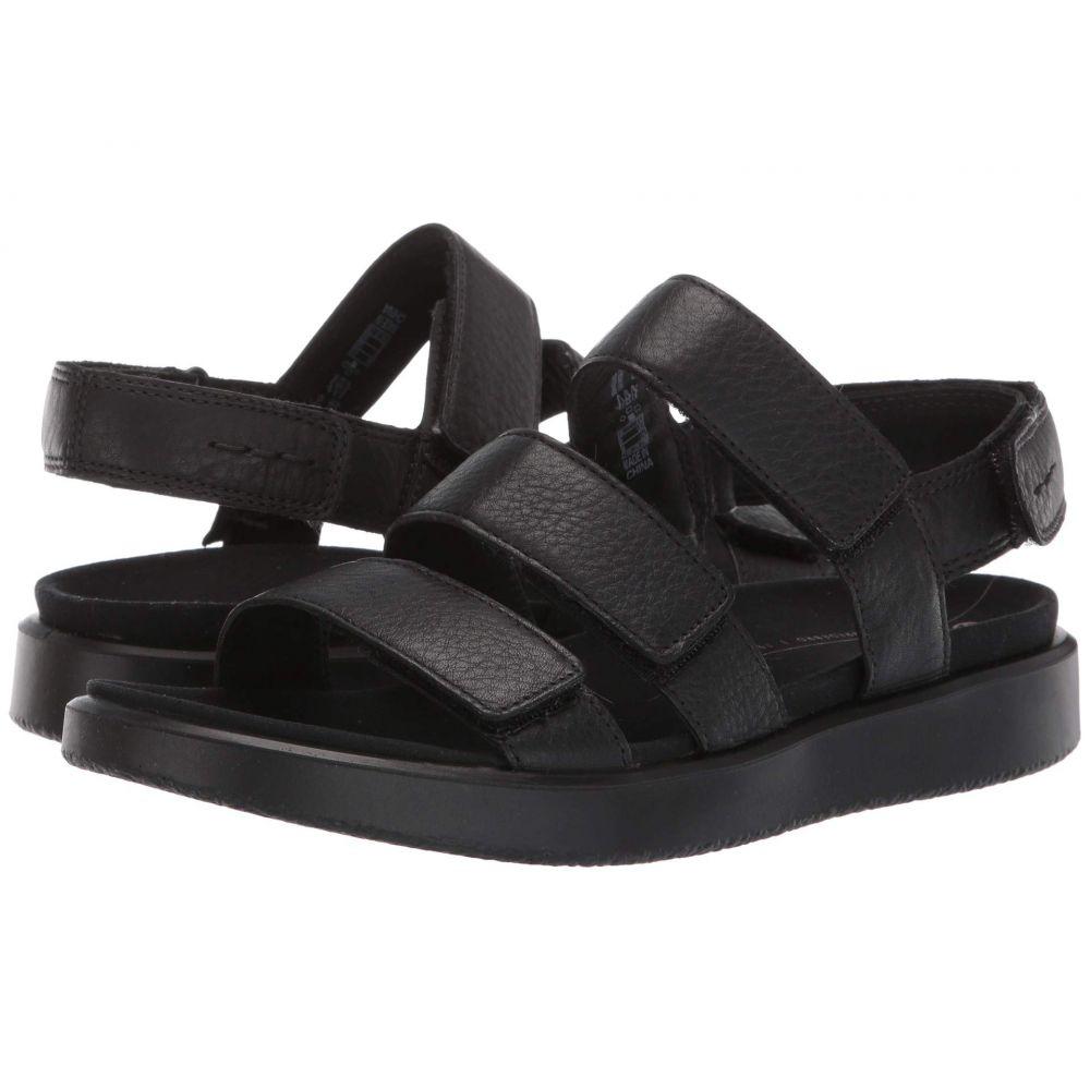 エコー ECCO レディース サンダル・ミュール シューズ・靴【Flowt 3 Strap Sandal】Black Cow Leather