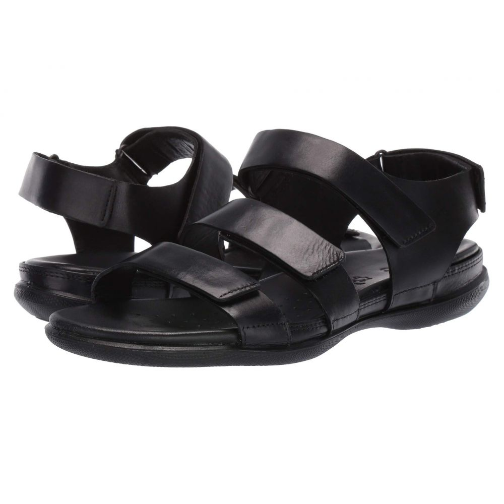 エコー ECCO レディース サンダル・ミュール フラット シューズ・靴【Flash Flat Sandal】Black Cow Nubuck