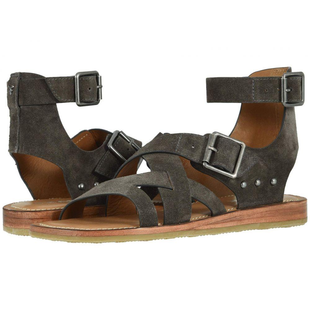トラスク Trask レディース サンダル・ミュール シューズ・靴【Roxanne】Gray Oiled Italian Suede