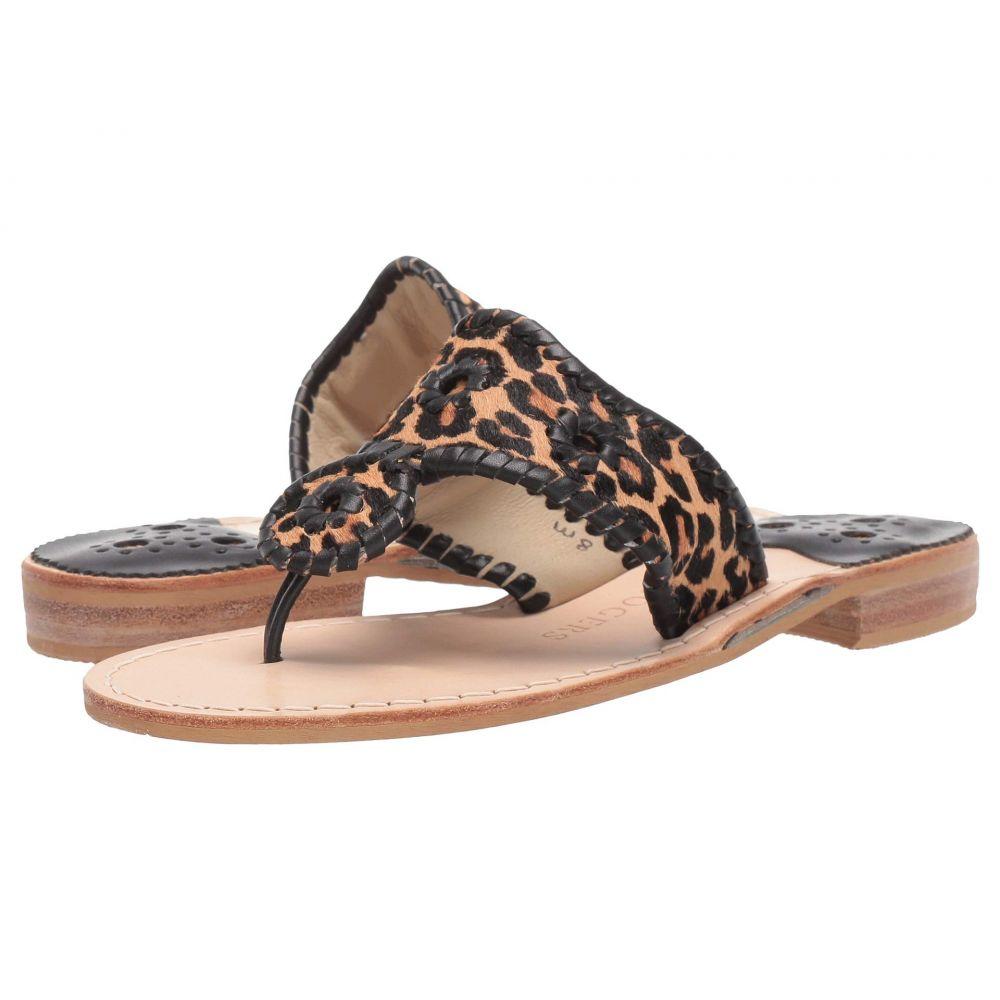 ジャックロジャース Jack Rogers レディース サンダル・ミュール フラット シューズ・靴【Jacks Flat Sandal】Leopard Print