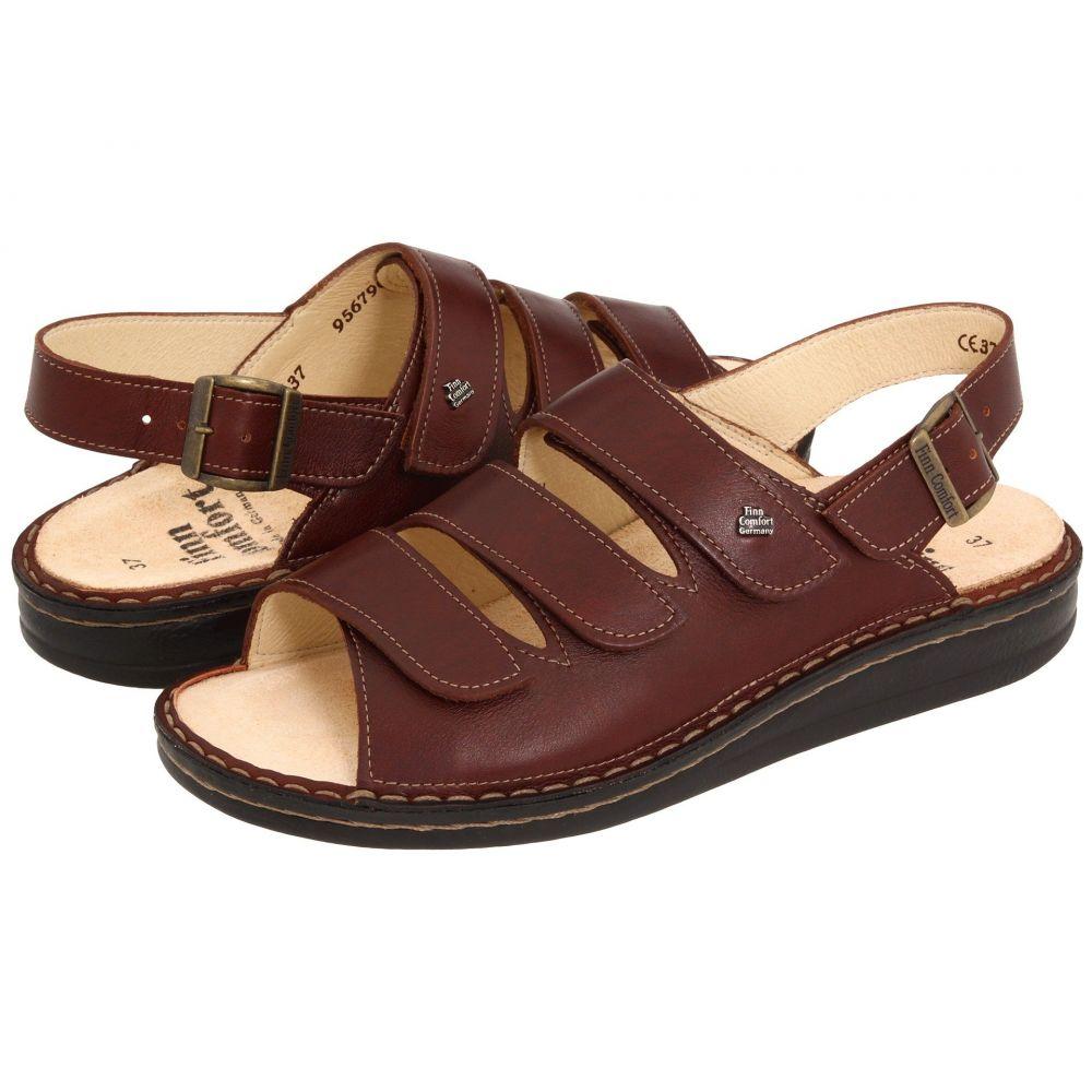 フィンコンフォート Finn Comfort レディース サンダル・ミュール シューズ・靴【Sylt - 82509】Brandy Country Soft Footbed