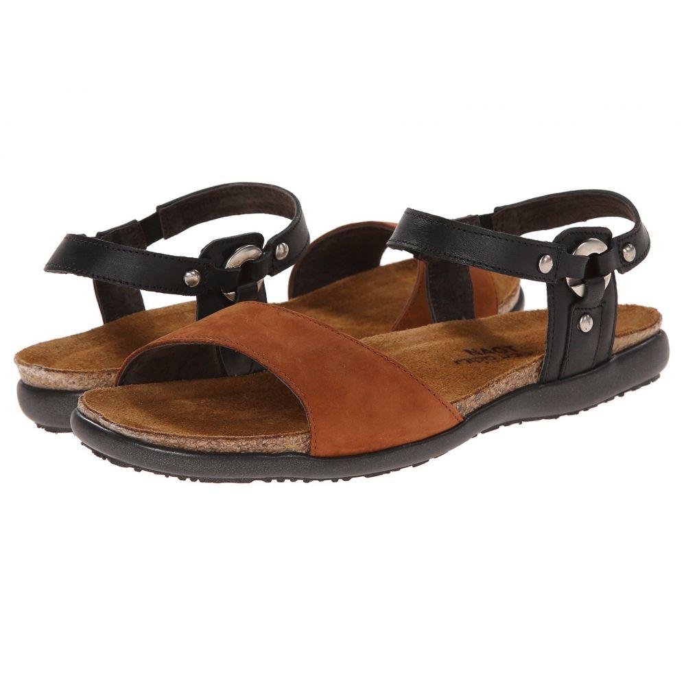 ナオト Naot レディース サンダル・ミュール シューズ・靴【Sabrina】Jet Black Leather/Hawaiian Brown Nubuck