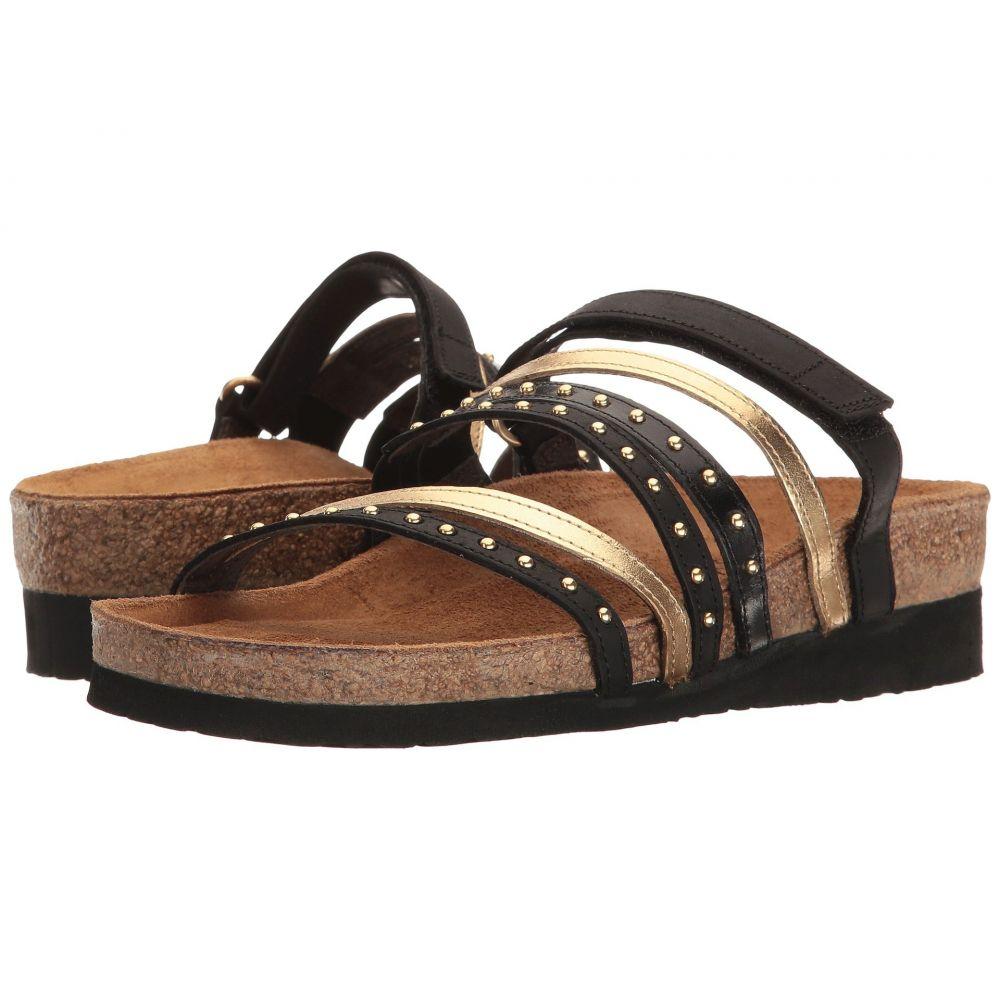 ナオト Naot レディース サンダル・ミュール シューズ・靴【Prescott】Oily Coal Nubuck/Gold Leather/Black Madras Leather