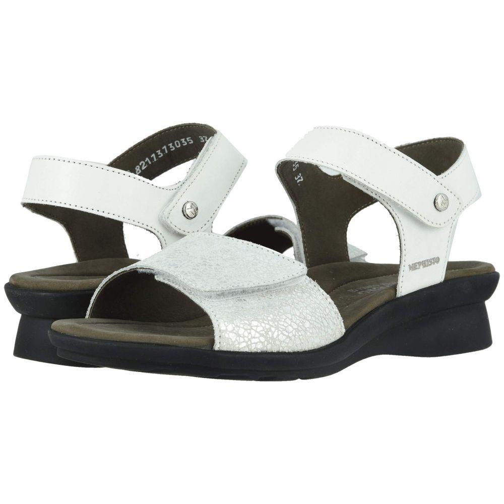 メフィスト Mephisto レディース サンダル・ミュール シューズ・靴【Pattie】White Silk/Silver Crash