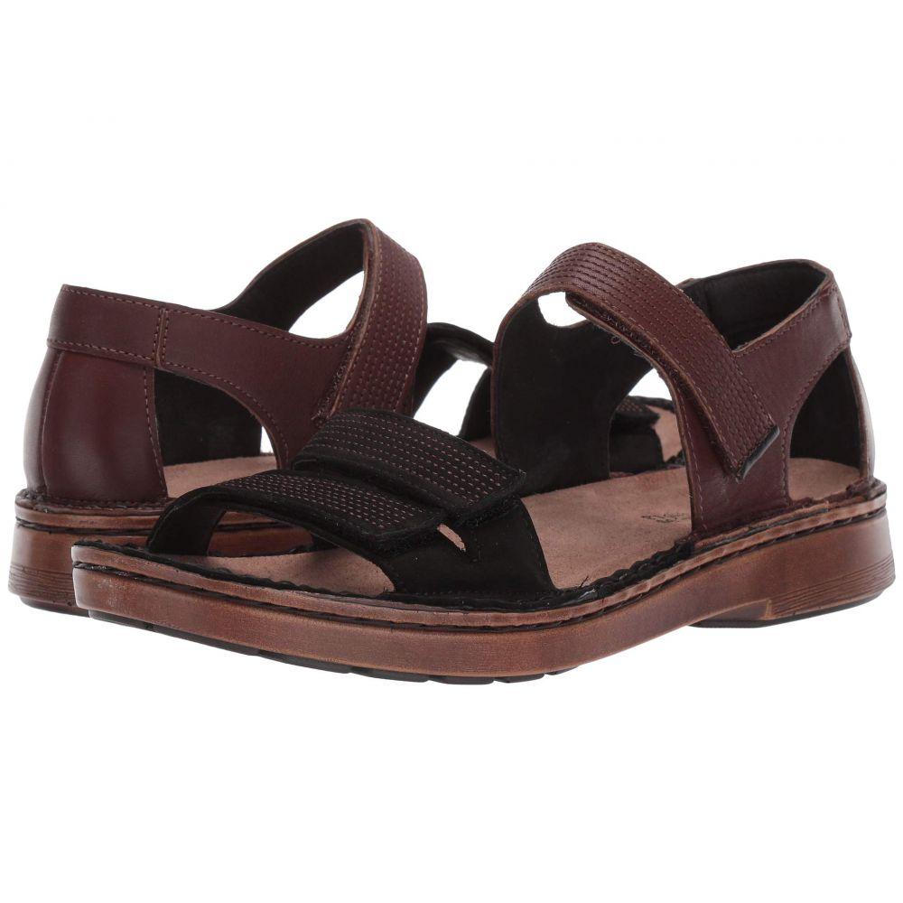 ナオト Naot レディース サンダル・ミュール シューズ・靴【Amarante】Toffee Brown Leather/Black Velvet Nubuck/French Roast Leather