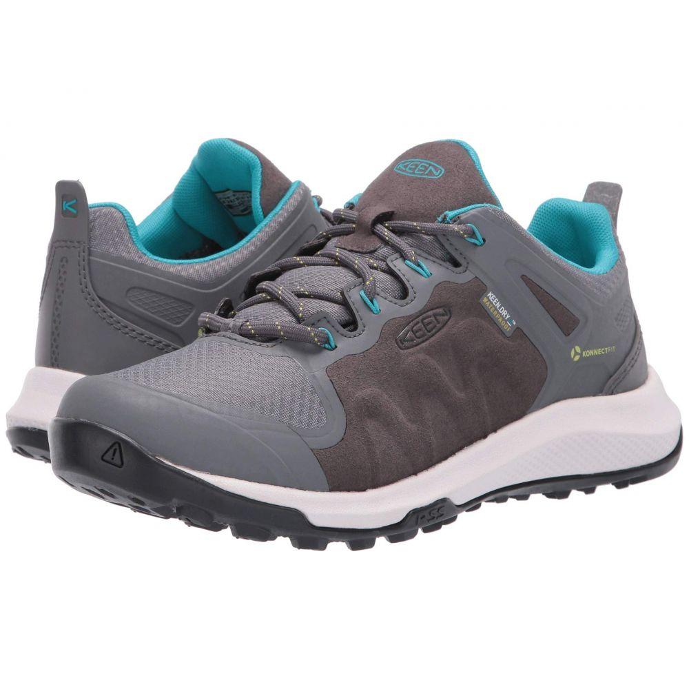 キーン Keen レディース ハイキング・登山 シューズ・靴【Explore Waterproof】Steel Grey/Bright Turquoise