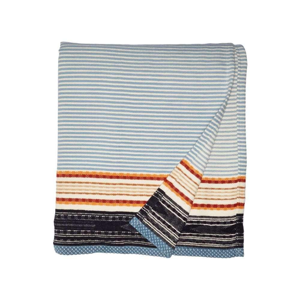 ペンドルトン Pendleton レディース 雑貨 【Organic Cotton Jacquard Blanket - Queen】Escalante Ridge Denim