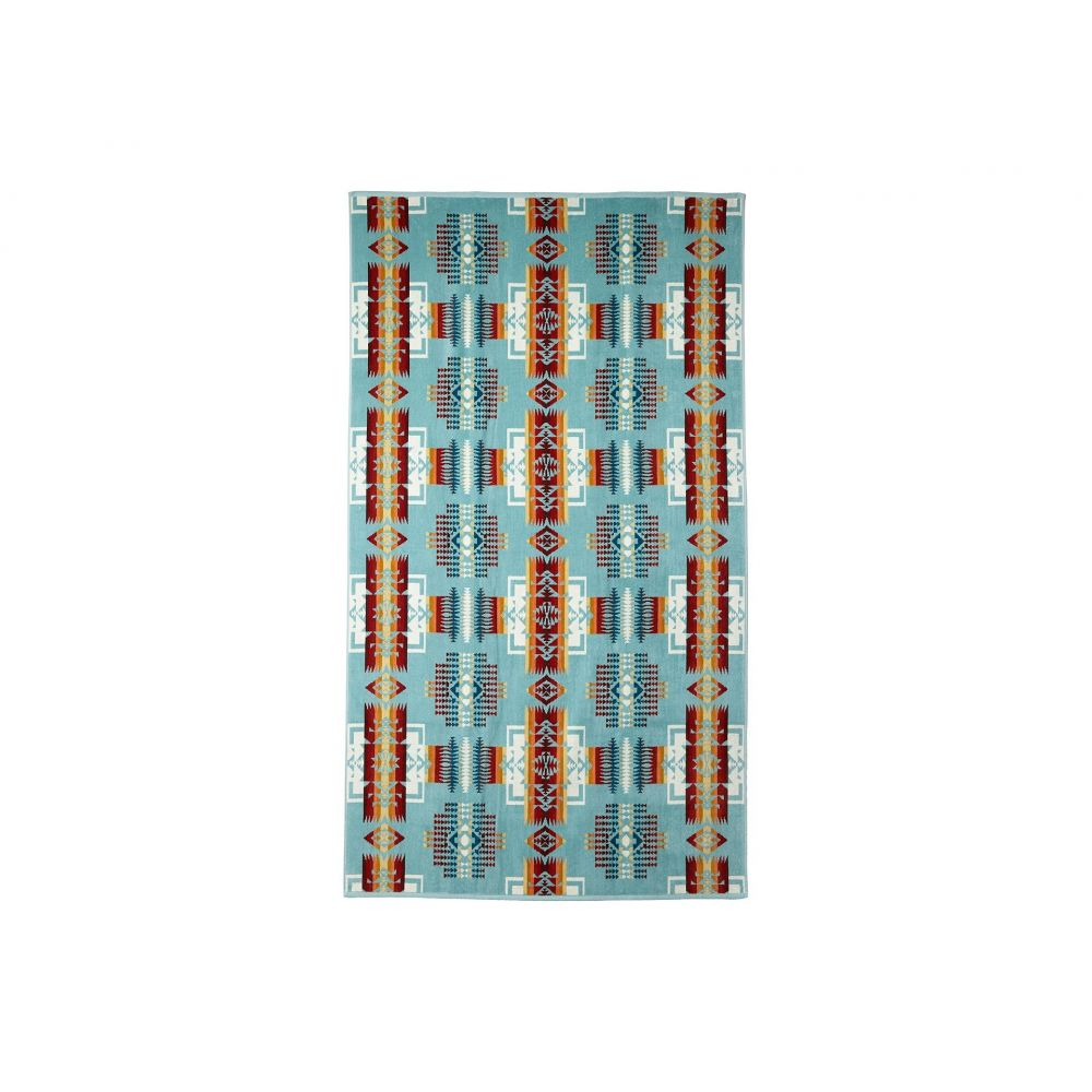 ペンドルトン Pendleton レディース ビーチタオル 水着・ビーチウェア【Oversized Jacquard Towel】Aqua