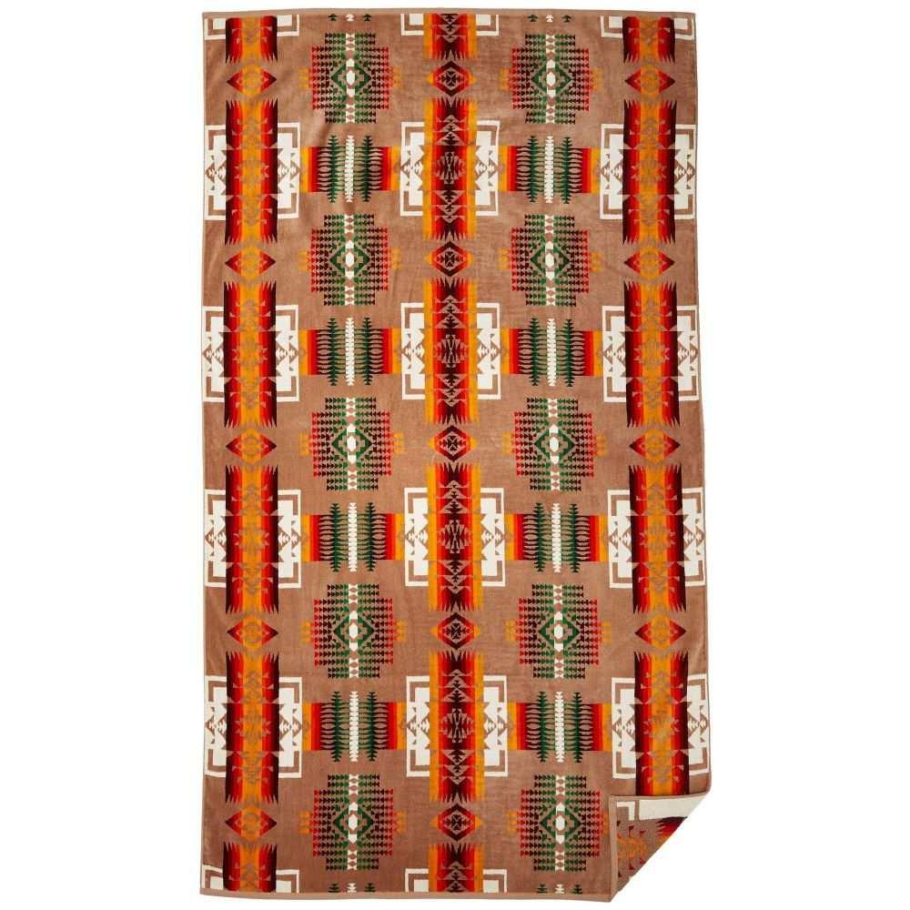 ペンドルトン Pendleton レディース ビーチタオル 水着・ビーチウェア【Oversized Jacquard Towel】Khaki