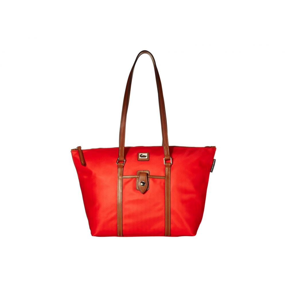 ドゥーニー&バーク Dooney & Bourke レディース トートバッグ バッグ【Camden Large Zip Tote】Red/Dark Chocolate Trim
