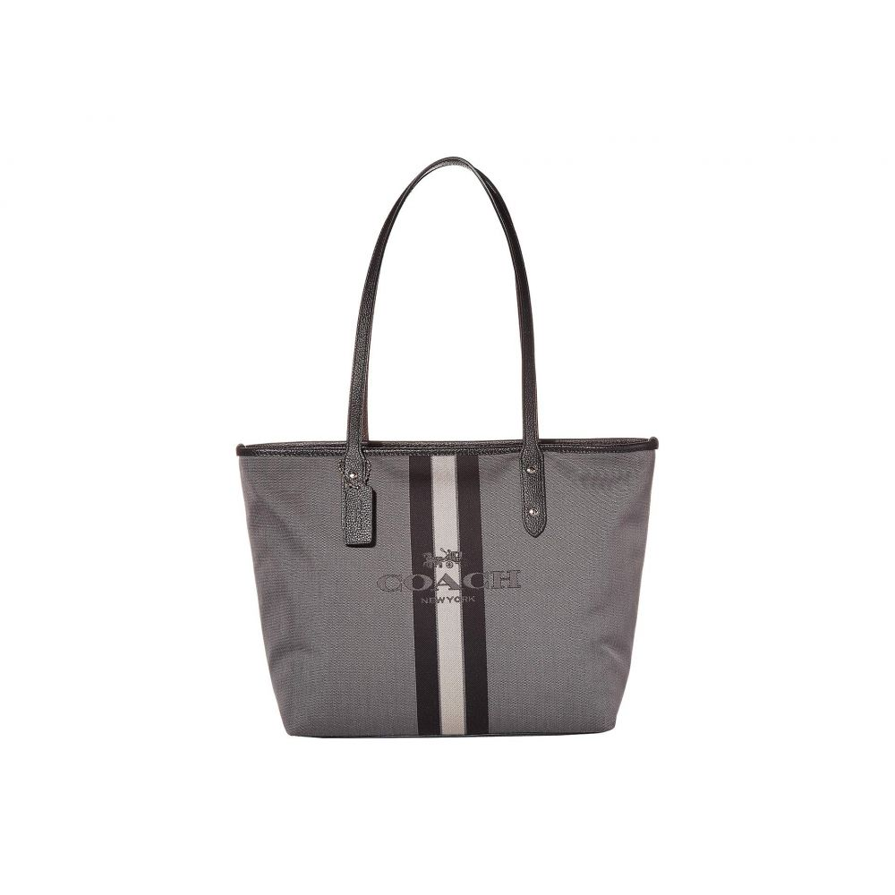 コーチ COACH レディース トートバッグ バッグ【Horse and Carriage Jacquard City Tote】Black/Black/Silver