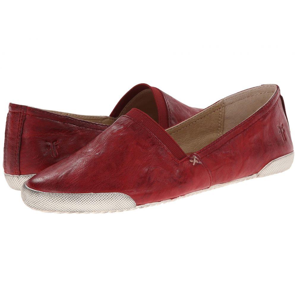 フライ Frye レディース スリッポン・フラット シューズ・靴【Melanie Slip On】Burnt Red Antique Soft Vintage