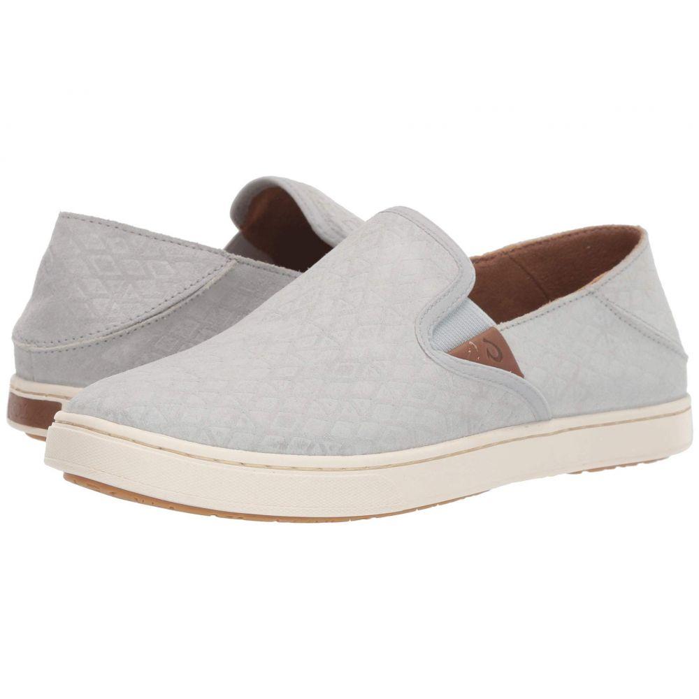 オルカイ OluKai レディース スニーカー シューズ・靴【Pehuea Leather】Pale Grey Kapa/Pale Grey