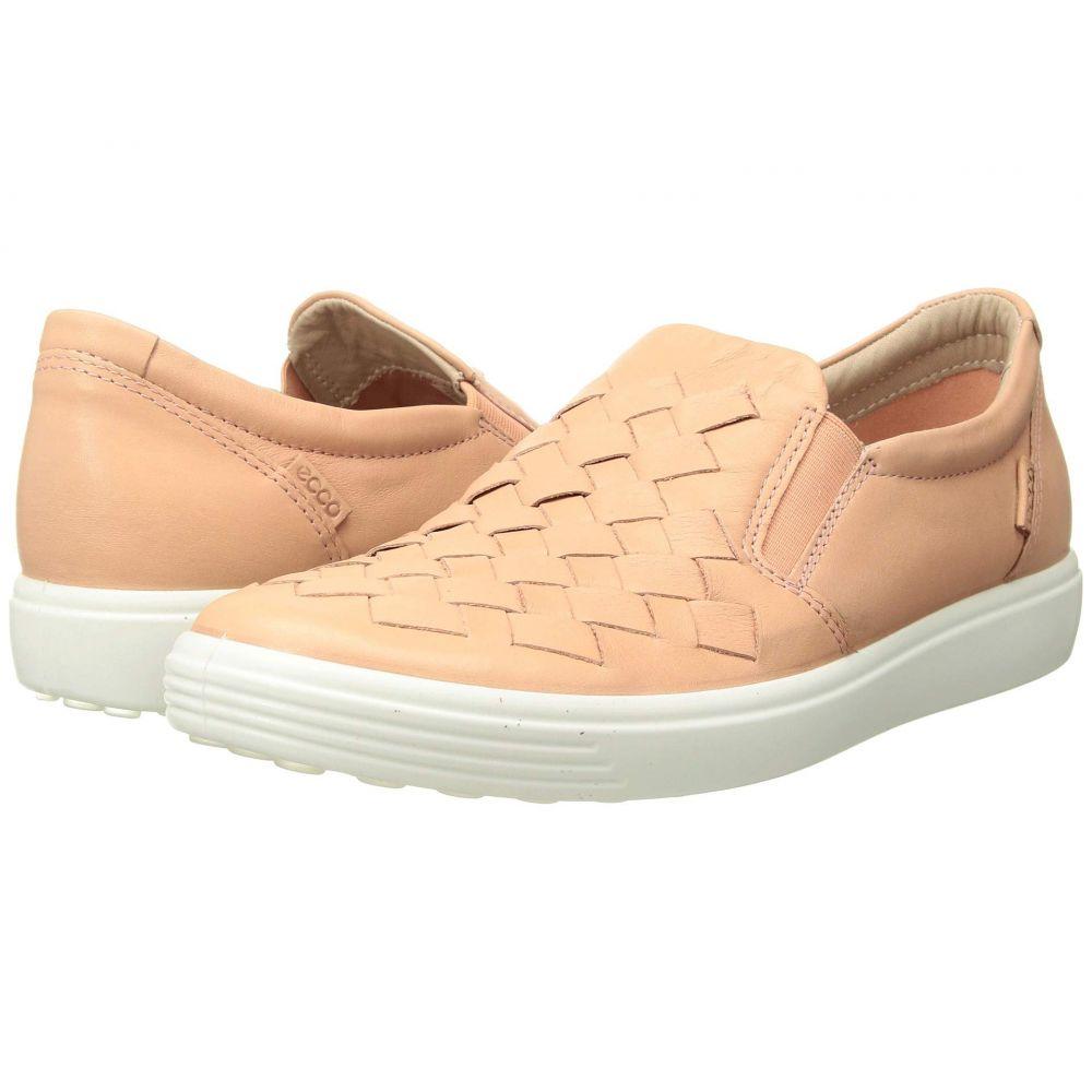 エコー ECCO レディース スリッポン・フラット シューズ・靴【Soft 7 Woven Slip-On】Rose Dust Cow Leather