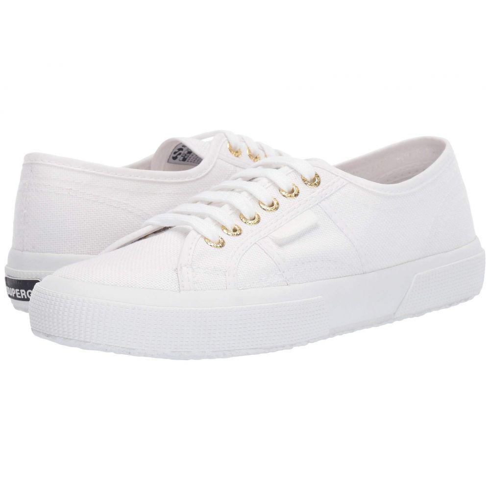 スペルガ Superga レディース スニーカー シューズ・靴【2750 COTU Classic Sneaker】White/Gold