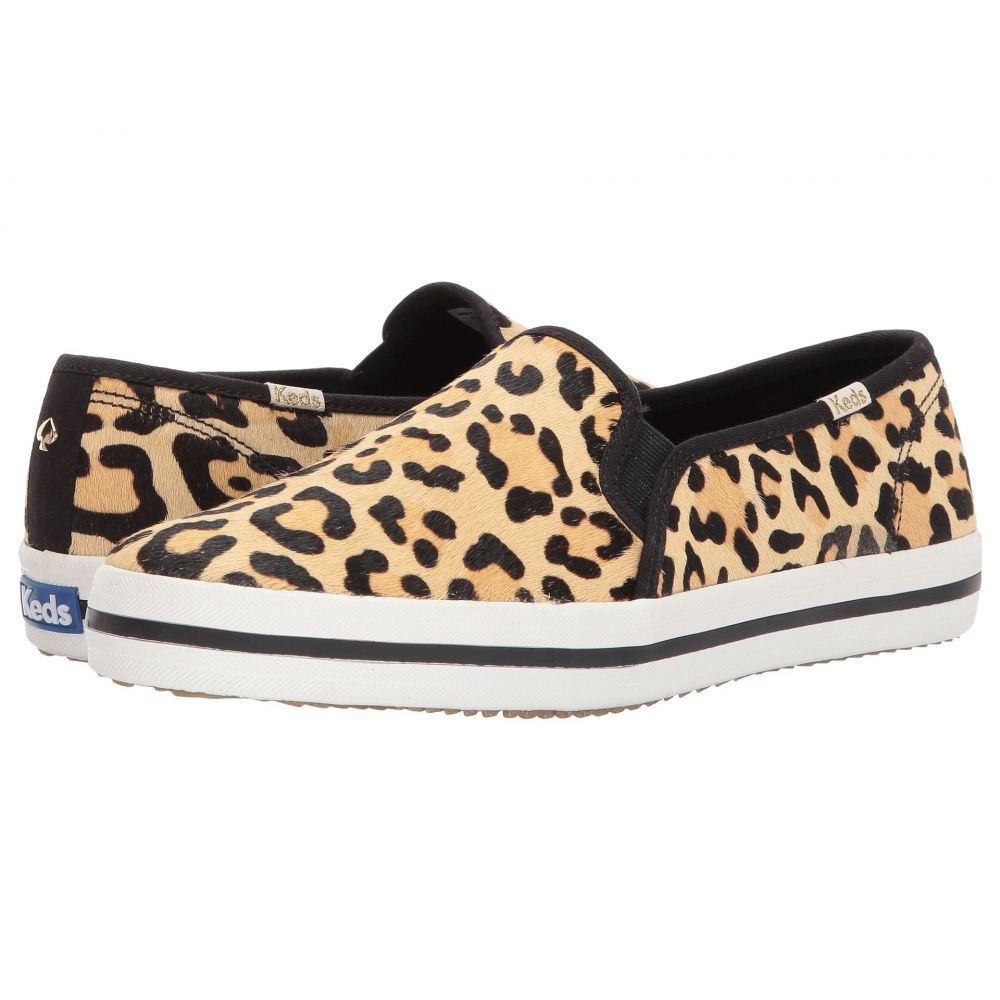 ケイト スペード Keds x kate spade new york レディース スニーカー シューズ・靴【Double Decker】Tan/Black Printed Pony