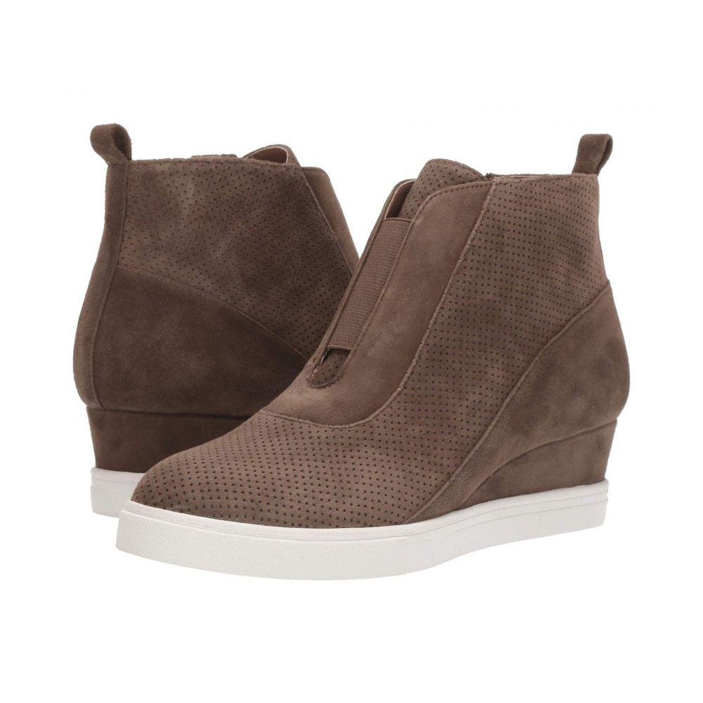 リネアパウロ LINEA Paolo レディース スニーカー ウェッジソール シューズ・靴【Anna Wedge Sneaker】Dark Olive Suede