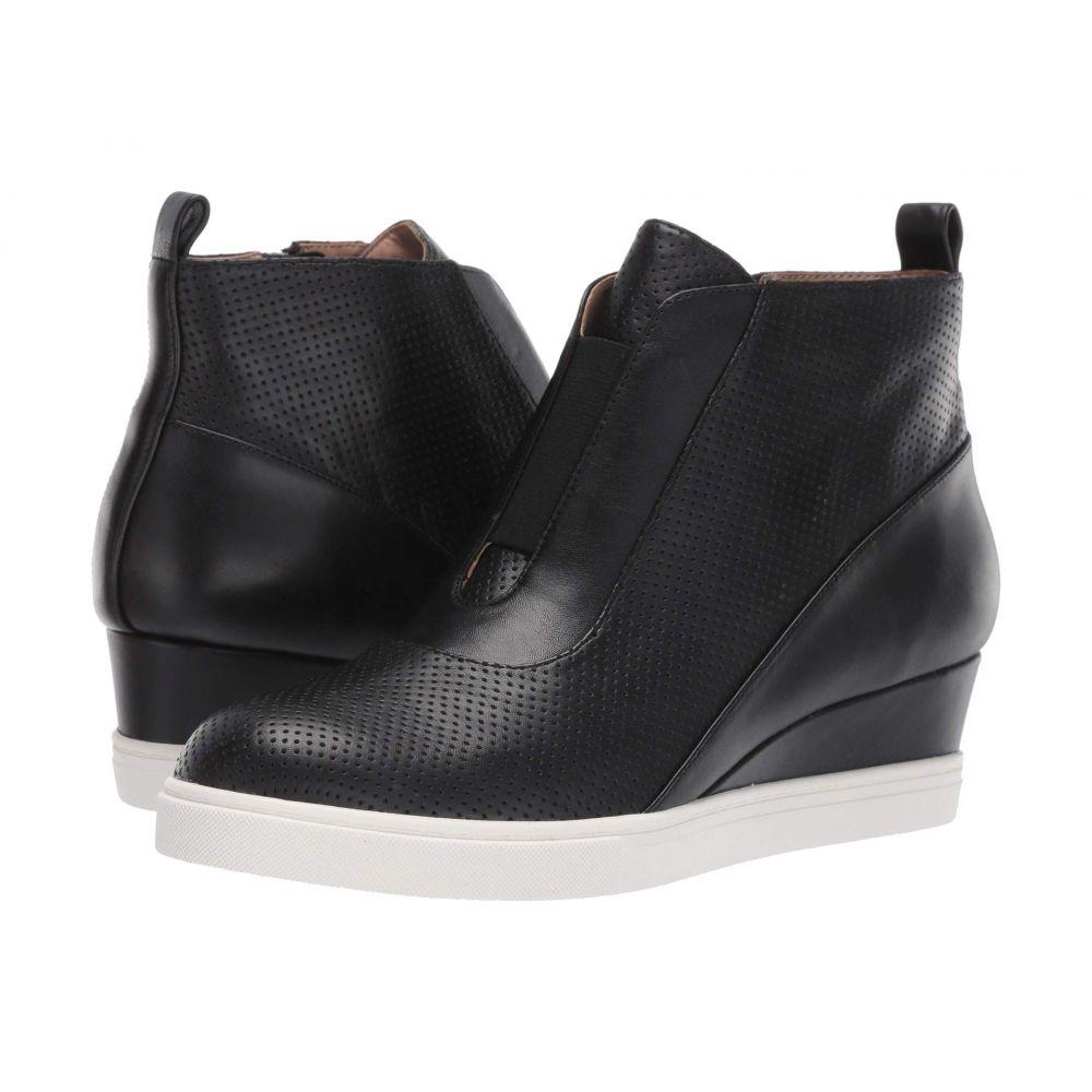 リネアパウロ LINEA Paolo レディース スニーカー ウェッジソール シューズ・靴【Anna Wedge Sneaker】Black Perforated Nappa Leather