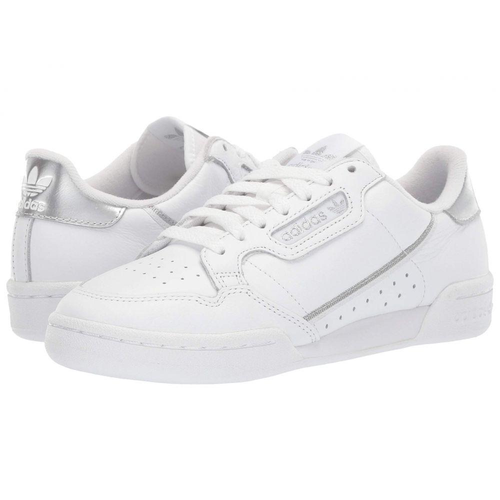 アディダス adidas Originals レディース スニーカー シューズ・靴【Continental 80】Footwear White/Footwear White/Silver Metallic