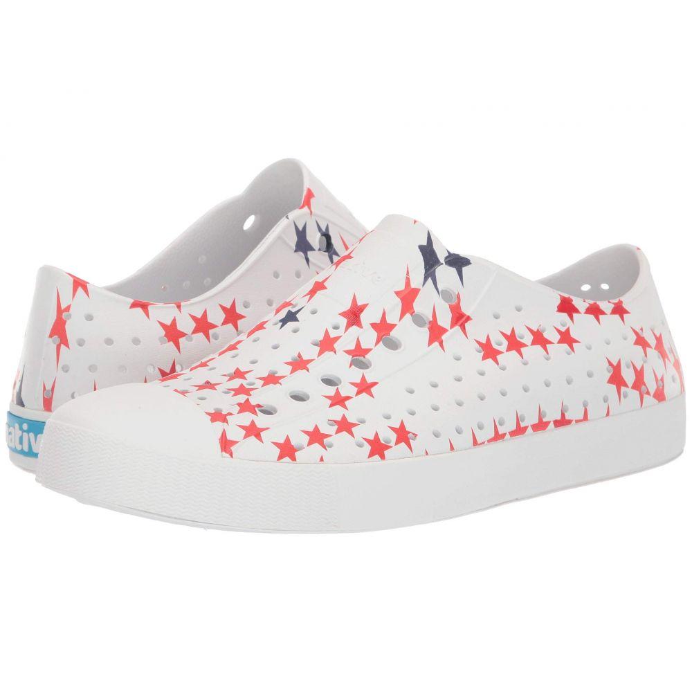 ネイティブ シューズ Native Shoes レディース スニーカー シューズ・靴【Jefferson】Shell White/Shell White/Little Star Print