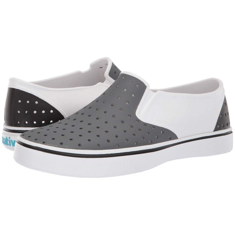 ネイティブ シューズ Native Shoes レディース スニーカー シューズ・靴【Miles】Shell White/Dublin Grey/Jiffy Black Block