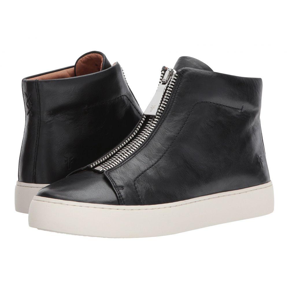フライ Frye レディース スニーカー シューズ・靴【Lena Zip High】Black Polished Soft Full Grain