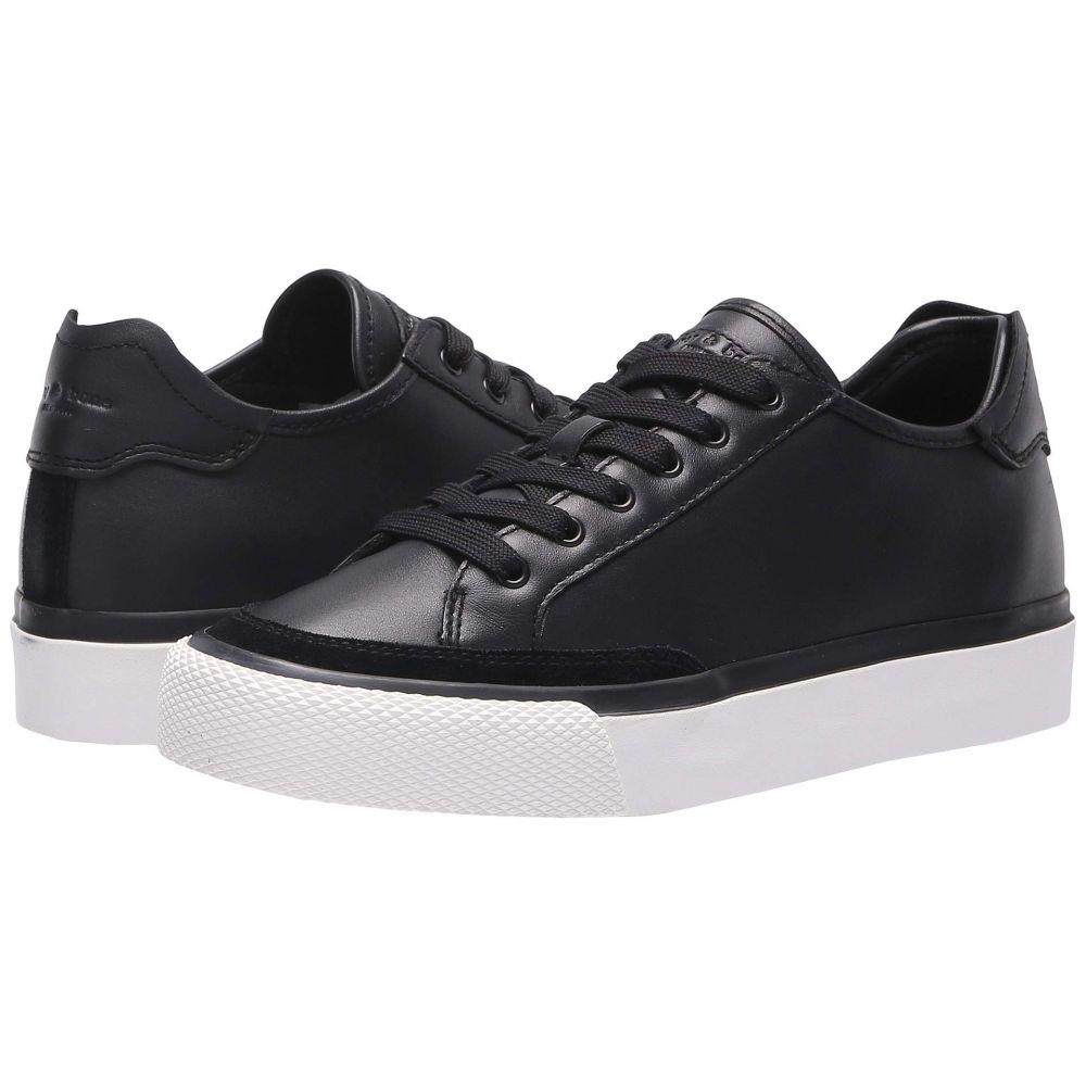 ラグ&ボーン rag & bone レディース スニーカー ローカット シューズ・靴【RB Army Low Top Sneaker】Black Leather