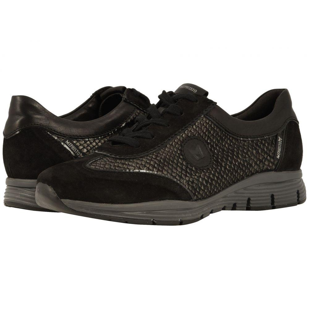 メフィスト Mephisto レディース スニーカー シューズ・靴【Yael】Black Velcalf Premium/Miami/Silk/Crinkle Patent