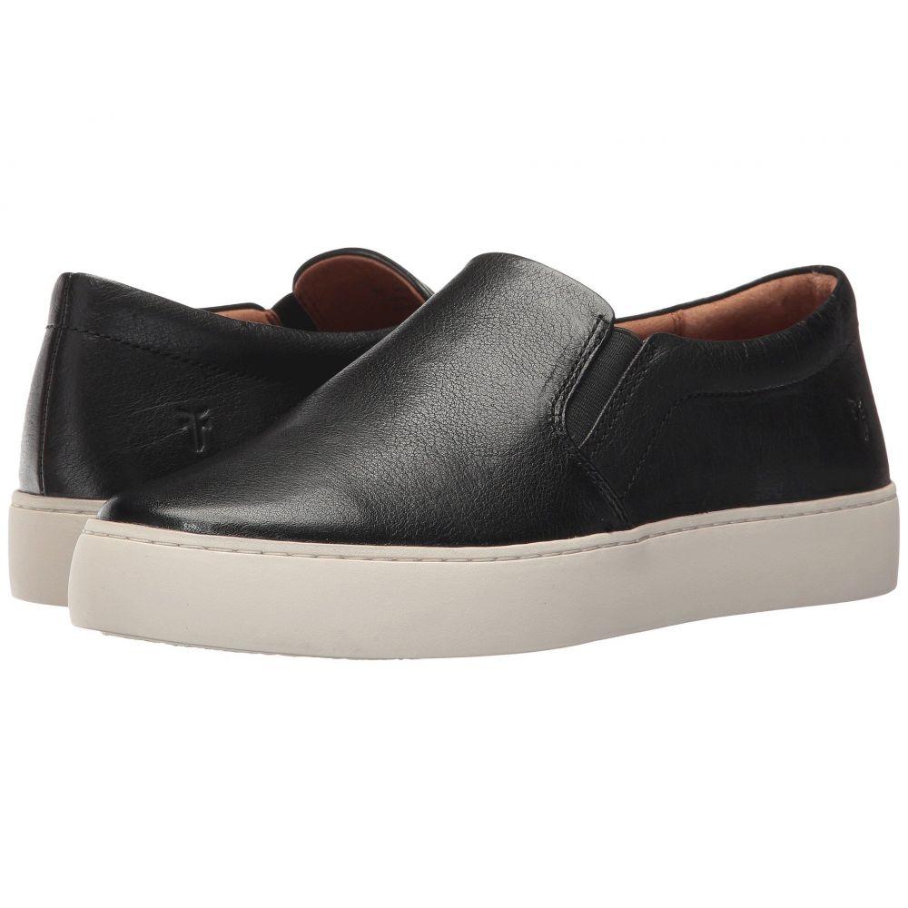 フライ Frye レディース スリッポン・フラット シューズ・靴【Lena Slip-On】Black Tumbled Buffalo