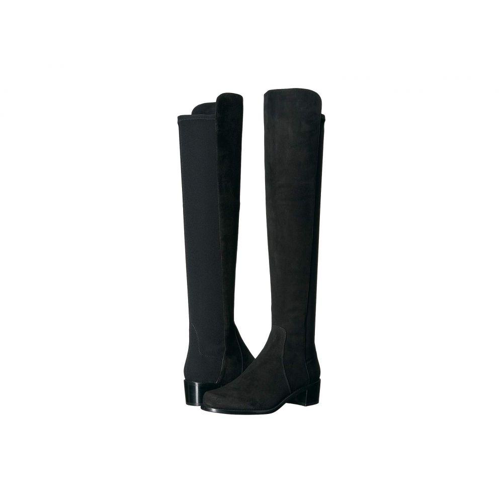 スチュアート ワイツマン Stuart Weitzman レディース ブーツ ロングブーツ シューズ・靴【Reserve Knee High Boot】Black Suede/Stretch Gabardine
