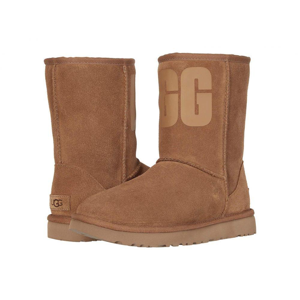 アグ UGG レディース ブーツ シューズ・靴【Classic Short Rubber Logo】Chestnut