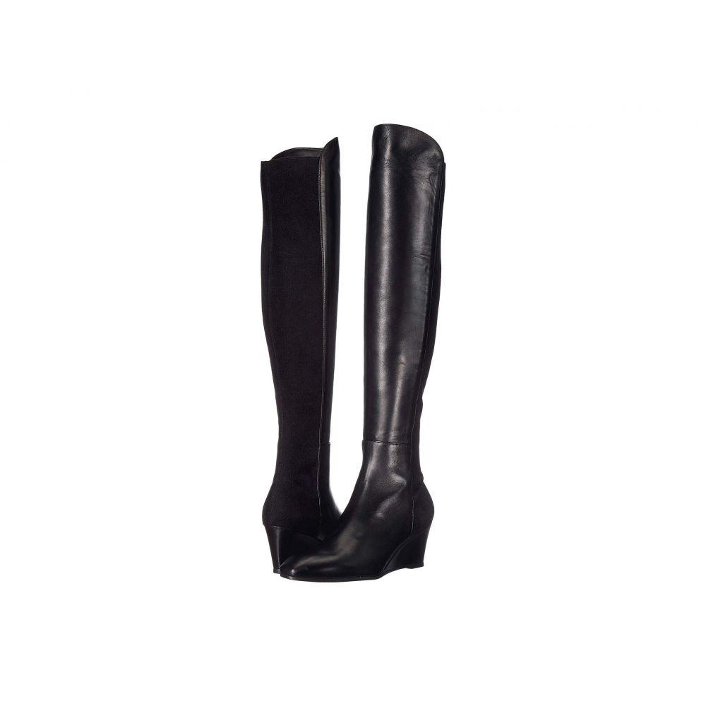 スチュアート ワイツマン Stuart Weitzman レディース ブーツ ウェッジソール シューズ・靴【Blaire Wedge Boot】Black Nappa/Sueded Elastic