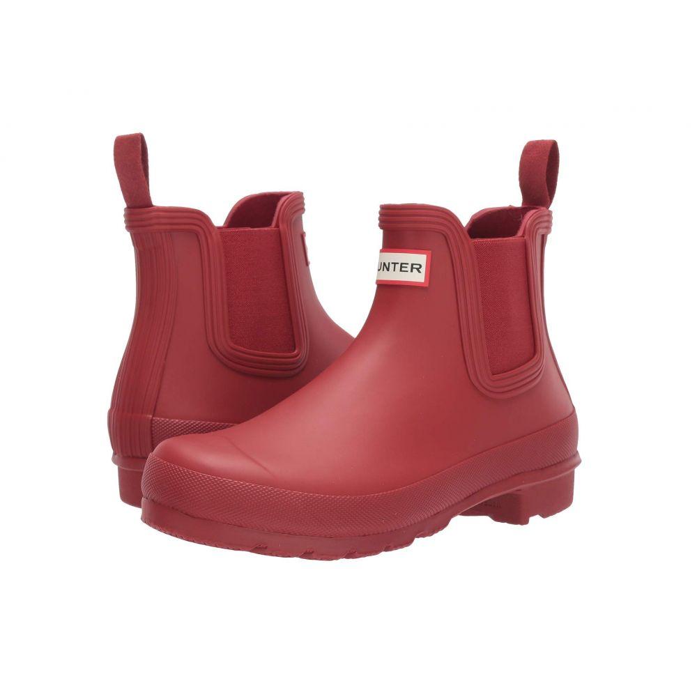 ハンター レディース シューズ・靴 レインシューズ・長靴 Military Red 【サイズ交換無料】 ハンター Hunter レディース レインシューズ・長靴 シューズ・靴【Original Chelsea】Military Red