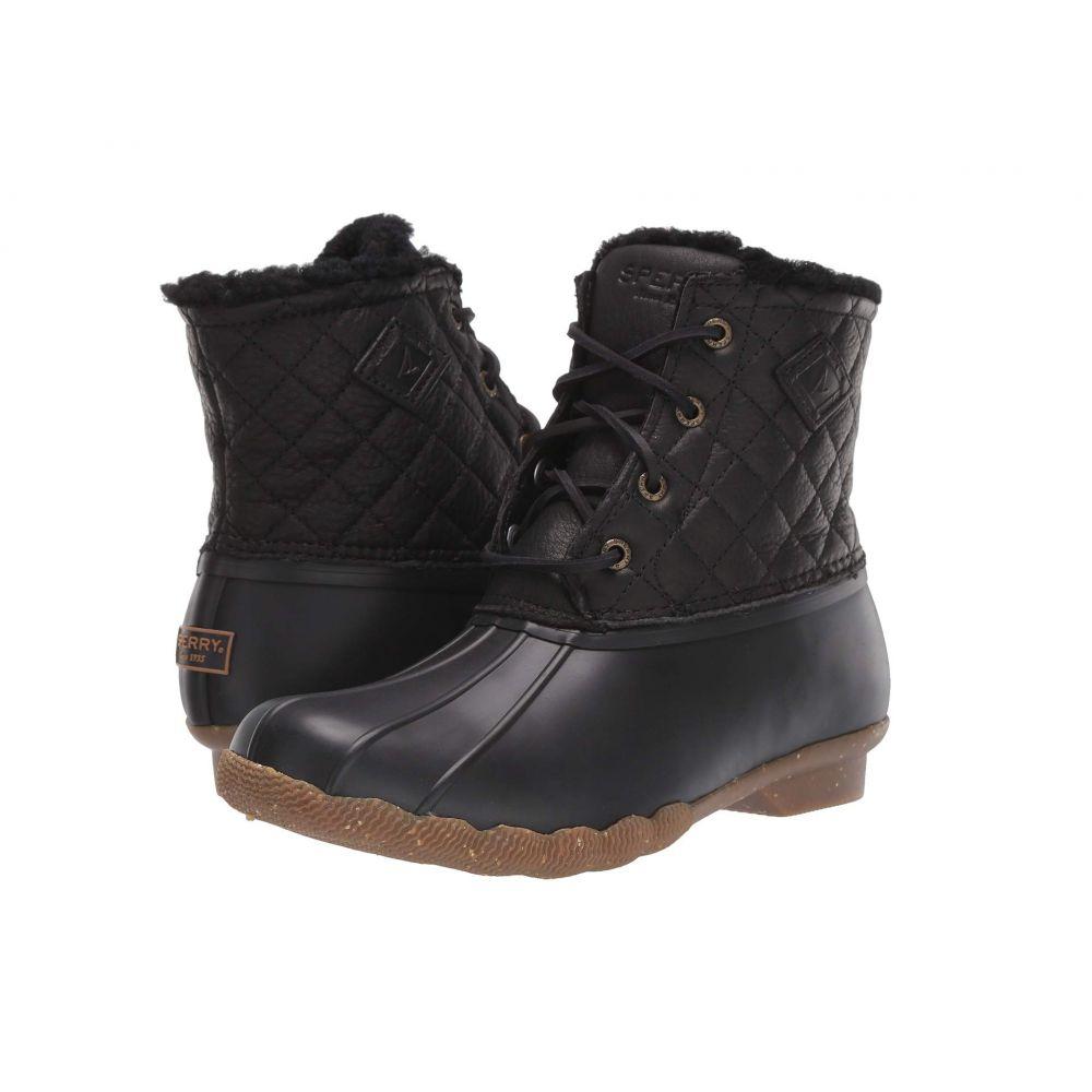 スペリー Sperry レディース レインシューズ・長靴 シューズ・靴【Saltwater Winter Lux】Black Quilt