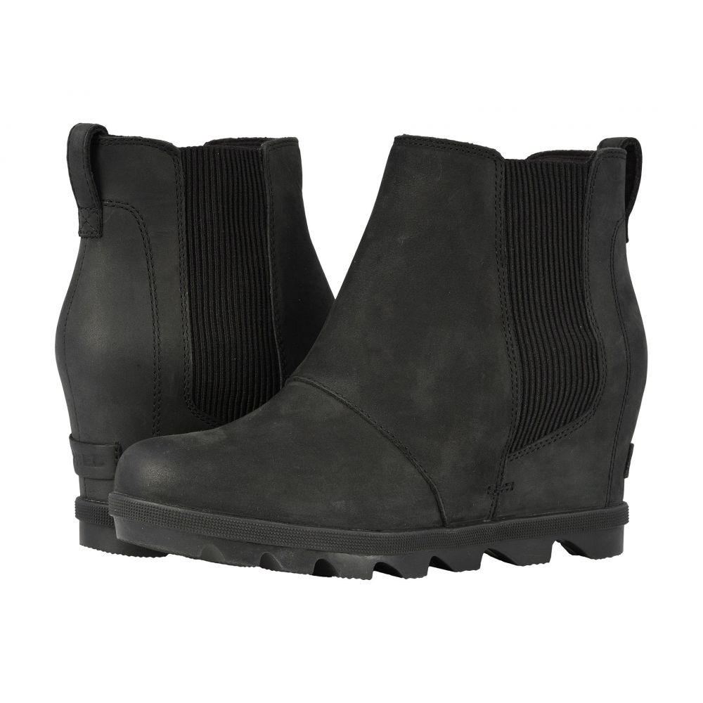 ソレル SOREL レディース ブーツ ウェッジソール シューズ・靴【Joan of Arctic(TM) Wedge II Chelsea】Black