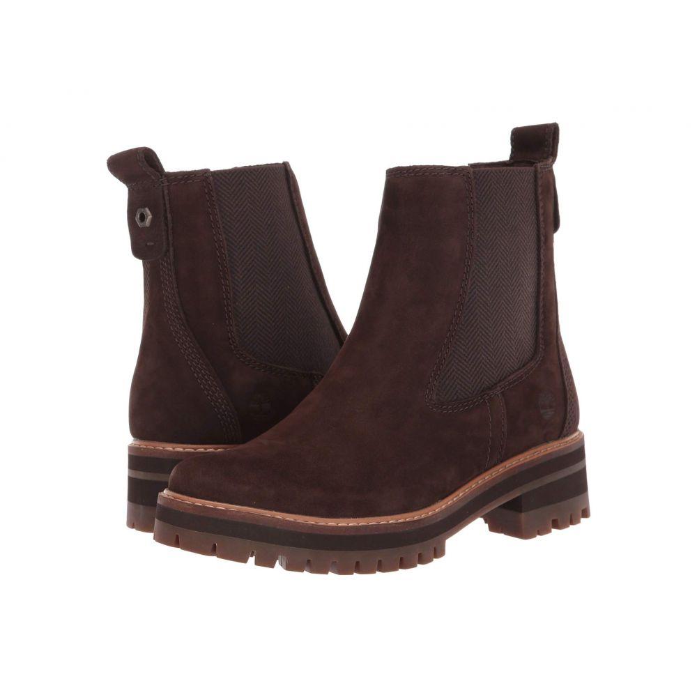 ティンバーランド Timberland レディース ブーツ シューズ・靴【Courmayeur Valley Chelsea】Dark Brown Nubuck