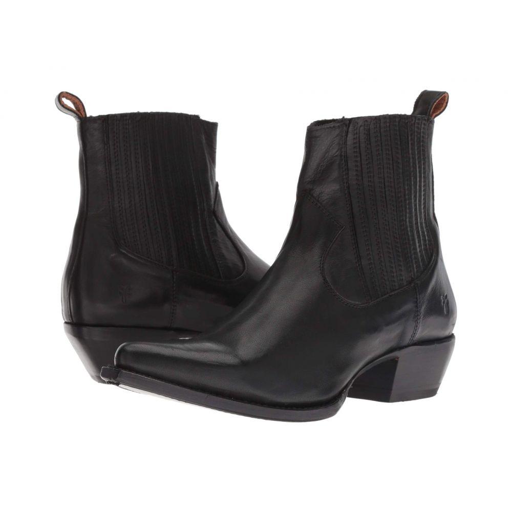 フライ Frye レディース ブーツ シューズ・靴【Sacha Chelsea】Black Polished Soft Full Grain