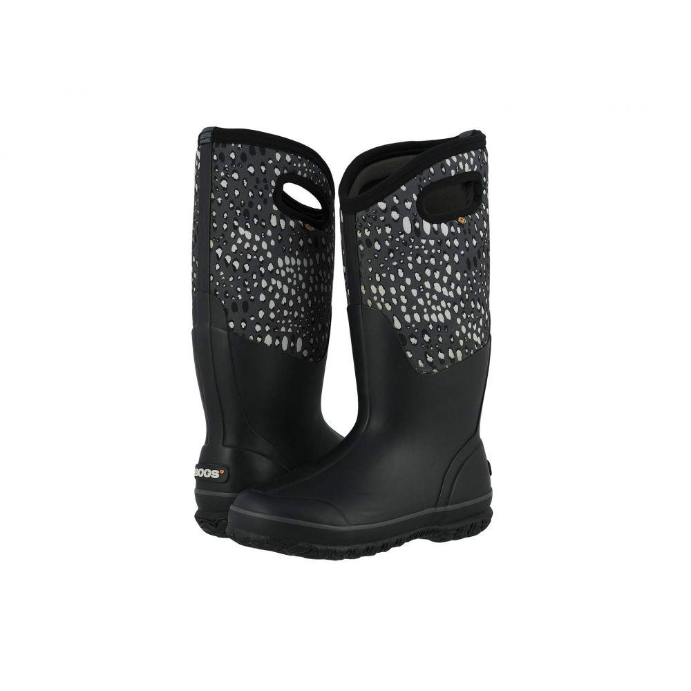 ボグス Bogs レディース レインシューズ・長靴 シューズ・靴【Classic Tall Appaloosa】Black Multi