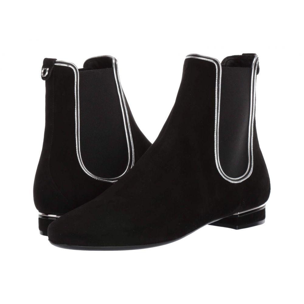 サルヴァトーレ フェラガモ Salvatore Ferragamo レディース ブーツ シューズ・靴【Aicha】Nero/Nappa Silk Argento