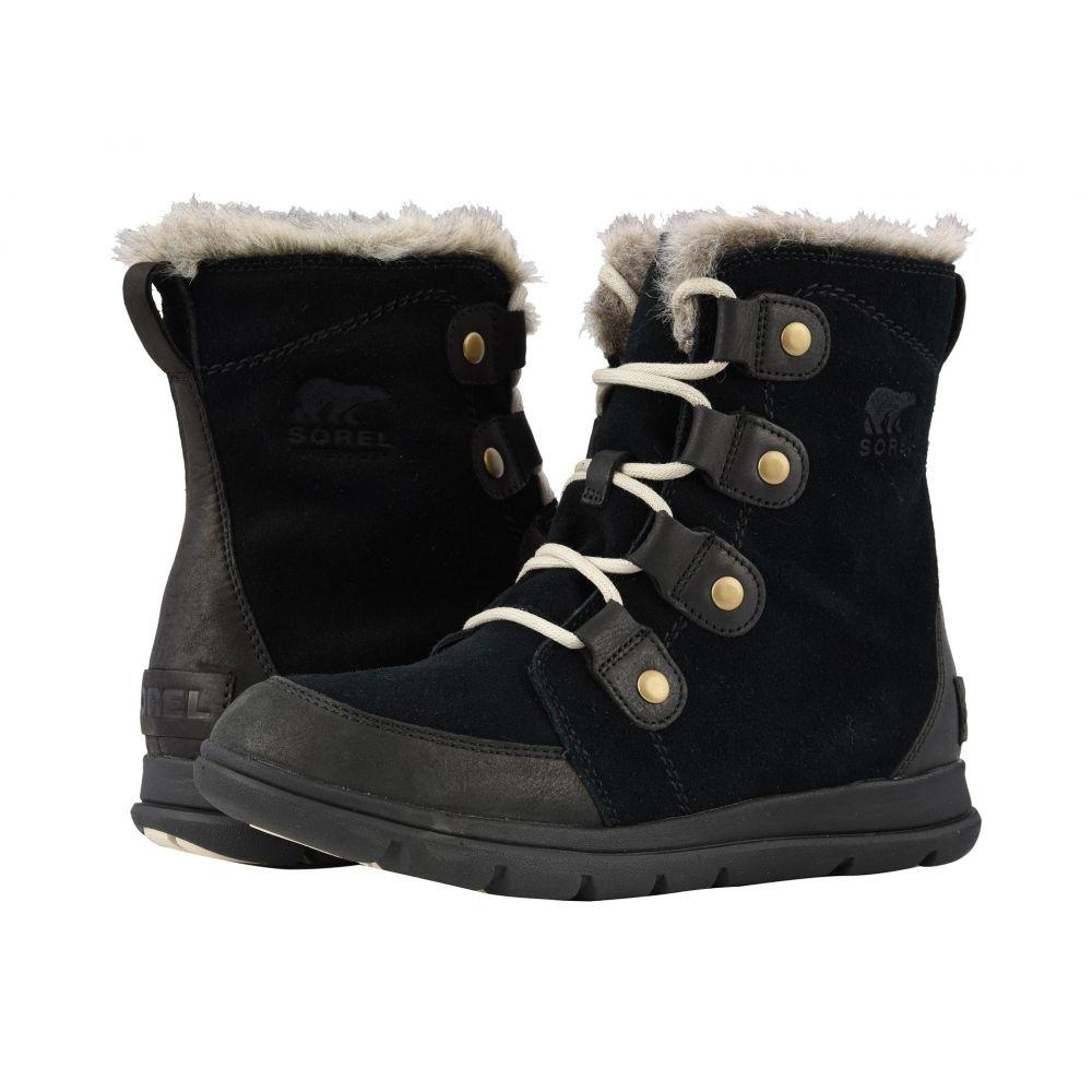 ソレル SOREL レディース ブーツ シューズ・靴【Explorer Joan】Black/Dark Stone