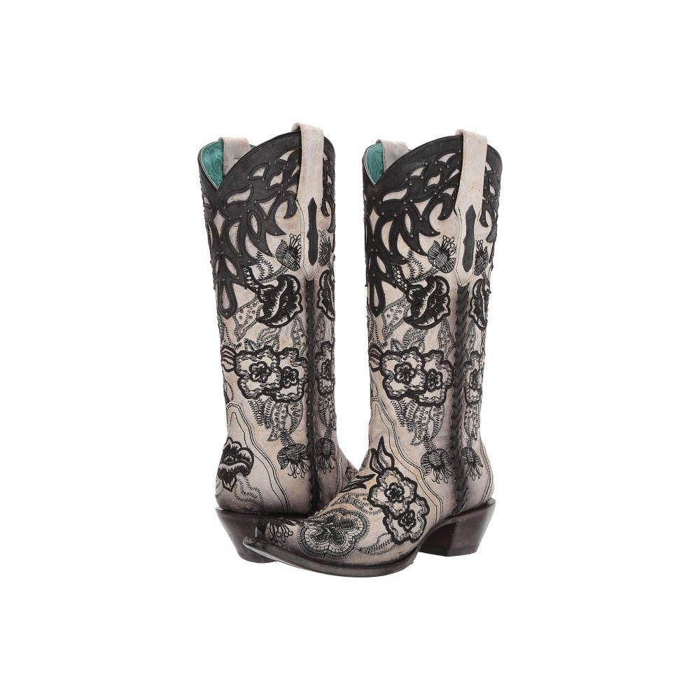 コラル Corral Boots レディース ブーツ シューズ・靴【C3566】White/Black