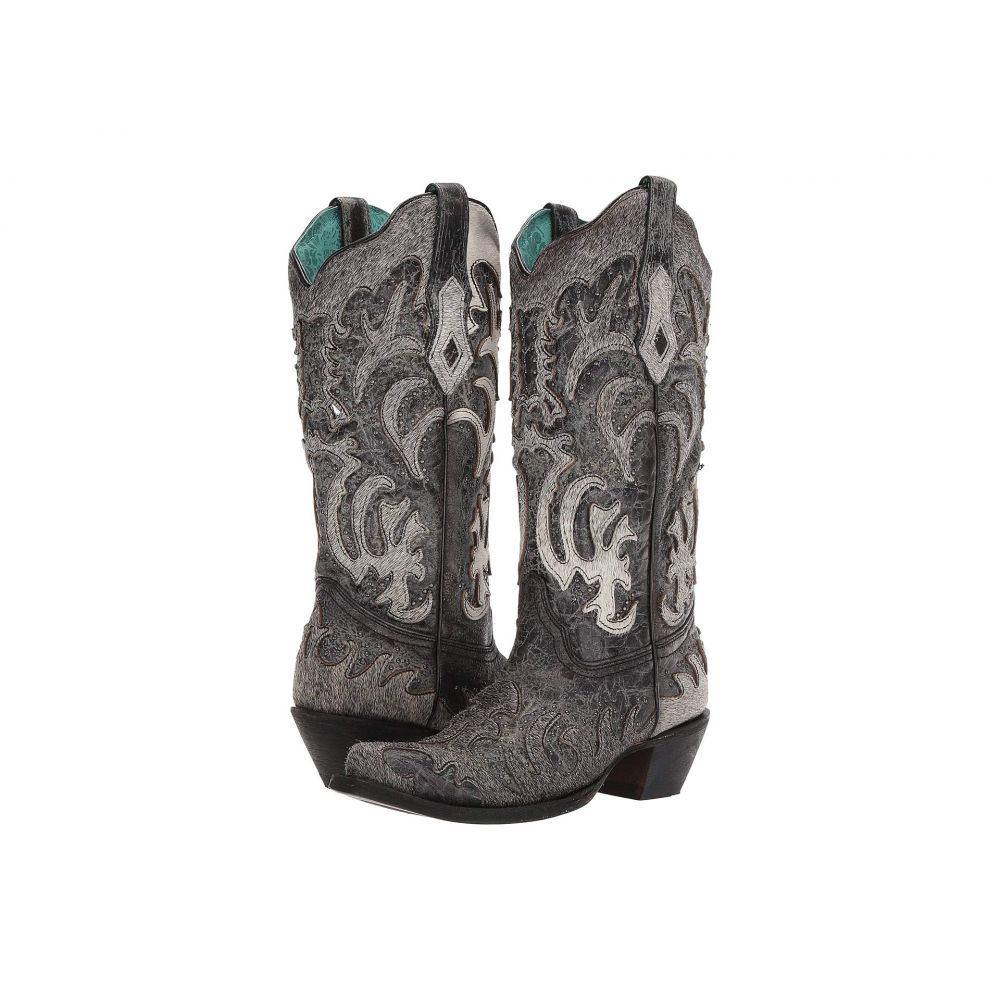 コラル Corral Boots レディース ブーツ シューズ・靴【C3587】Black/Grey
