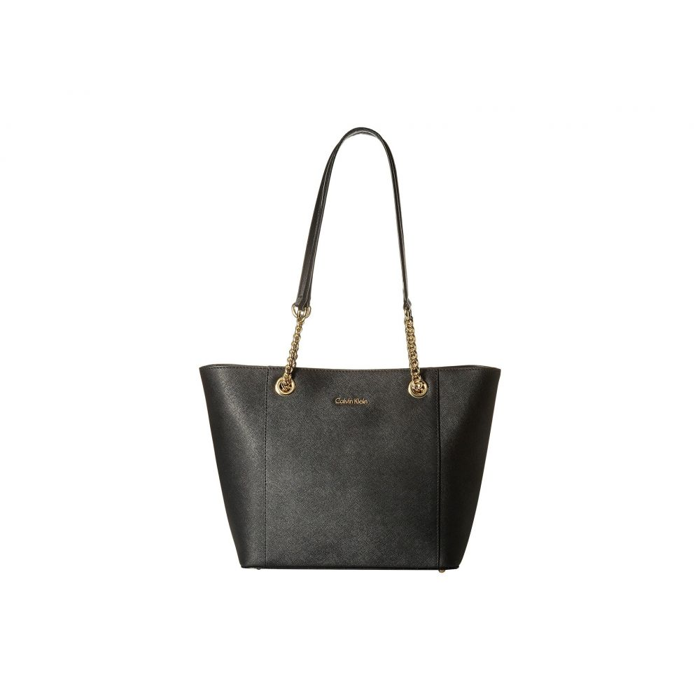 カルバンクライン Calvin Klein レディース トートバッグ バッグ【Saffiano Tote】Black/Gold