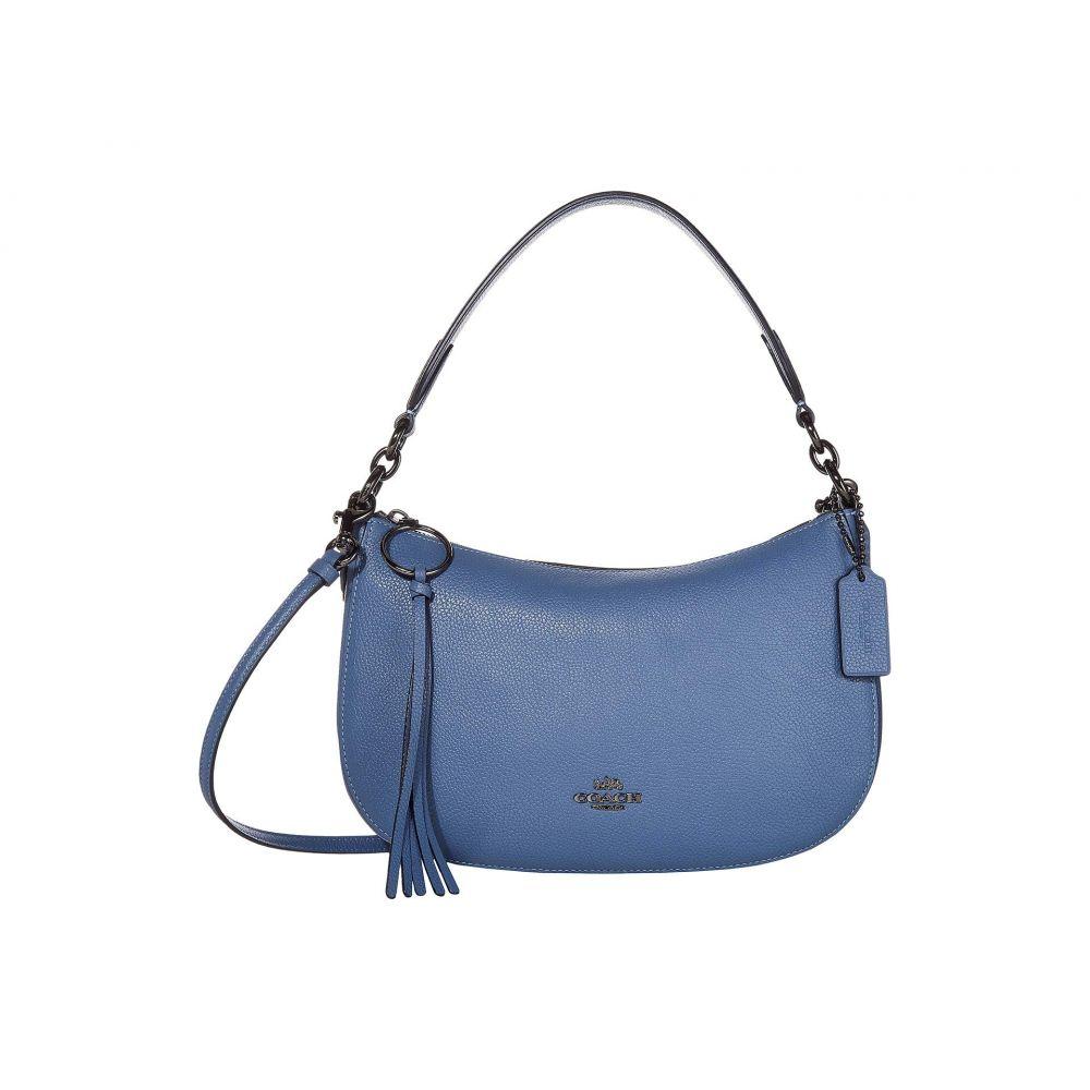 コーチ COACH レディース ショルダーバッグ バッグ【Polished Pebble Leather Sutton Crossbody】Stone Blue/Gunmetal