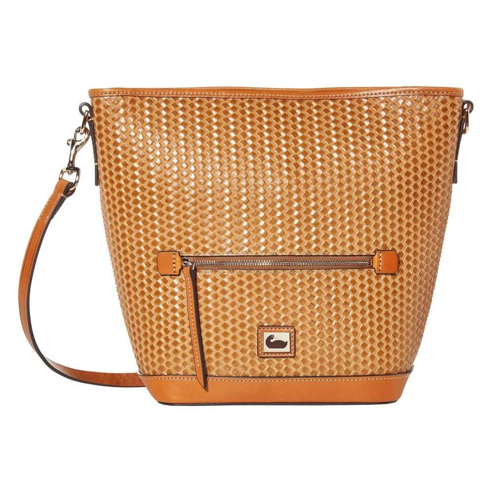 ドゥーニー&バーク Dooney & Bourke レディース ショルダーバッグ バッグ【Camden Woven Small Hobo Crossbody】Camel/Natural Trim