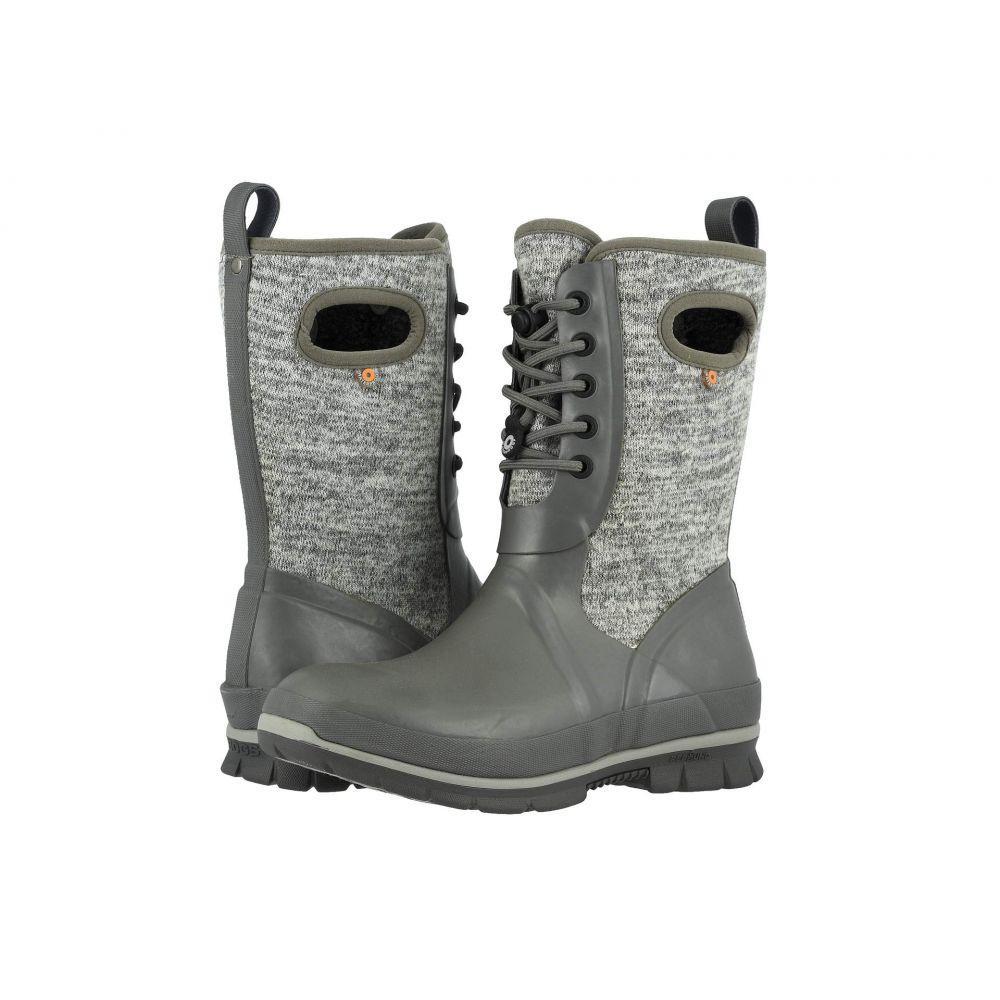 ボグス Bogs レディース ブーツ シューズ・靴【Crandall Lace Knit】Gray Multi