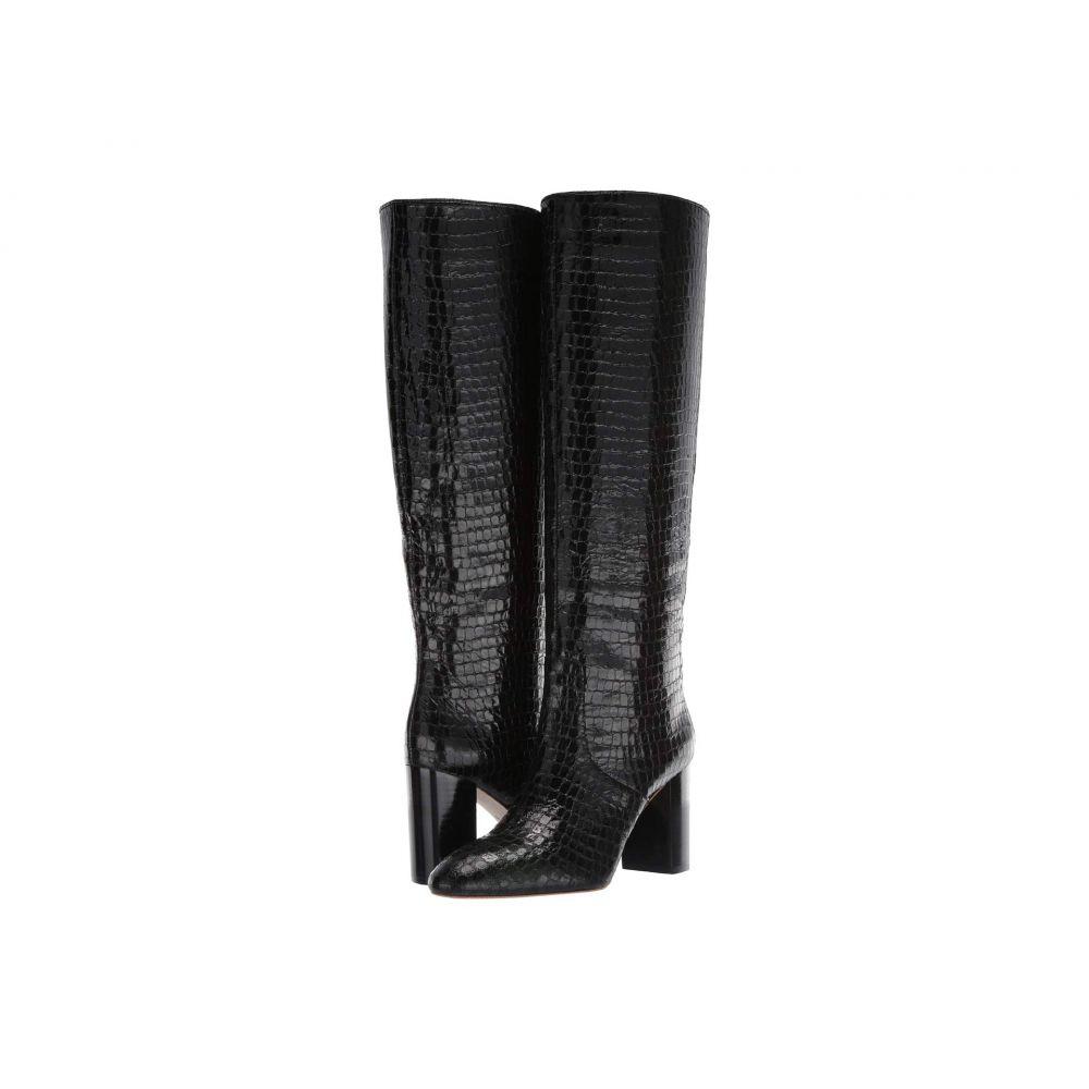 ロフラーランドール Loeffler Randall レディース ブーツ シューズ・靴【Goldy Tall Boot】Black Shiny Embossed Croc